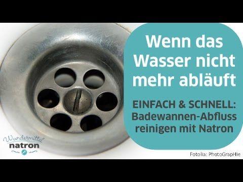 BadewannenAbfluss reinigen mit Natron und Essig YouTube