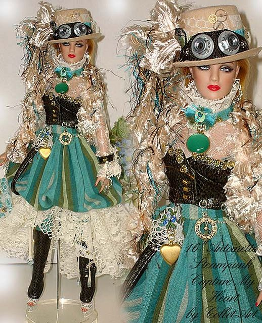 "2011 STEAMPUNK FASHION OOAK ""CAPTURE MY HEART"" OOAK TONNER 16"" ANTOINETTE CAMI JON by collet-art, via Flickr"