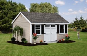 12 X 16 Shed From Amish Mike S In Hackettstown Nj Vinyl Sheds Shed Amish Sheds