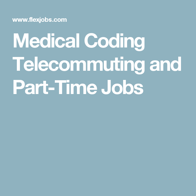 Medical Coder Resume Medical Coding Telecommuting And Parttime Jobs  Home  Pinterest