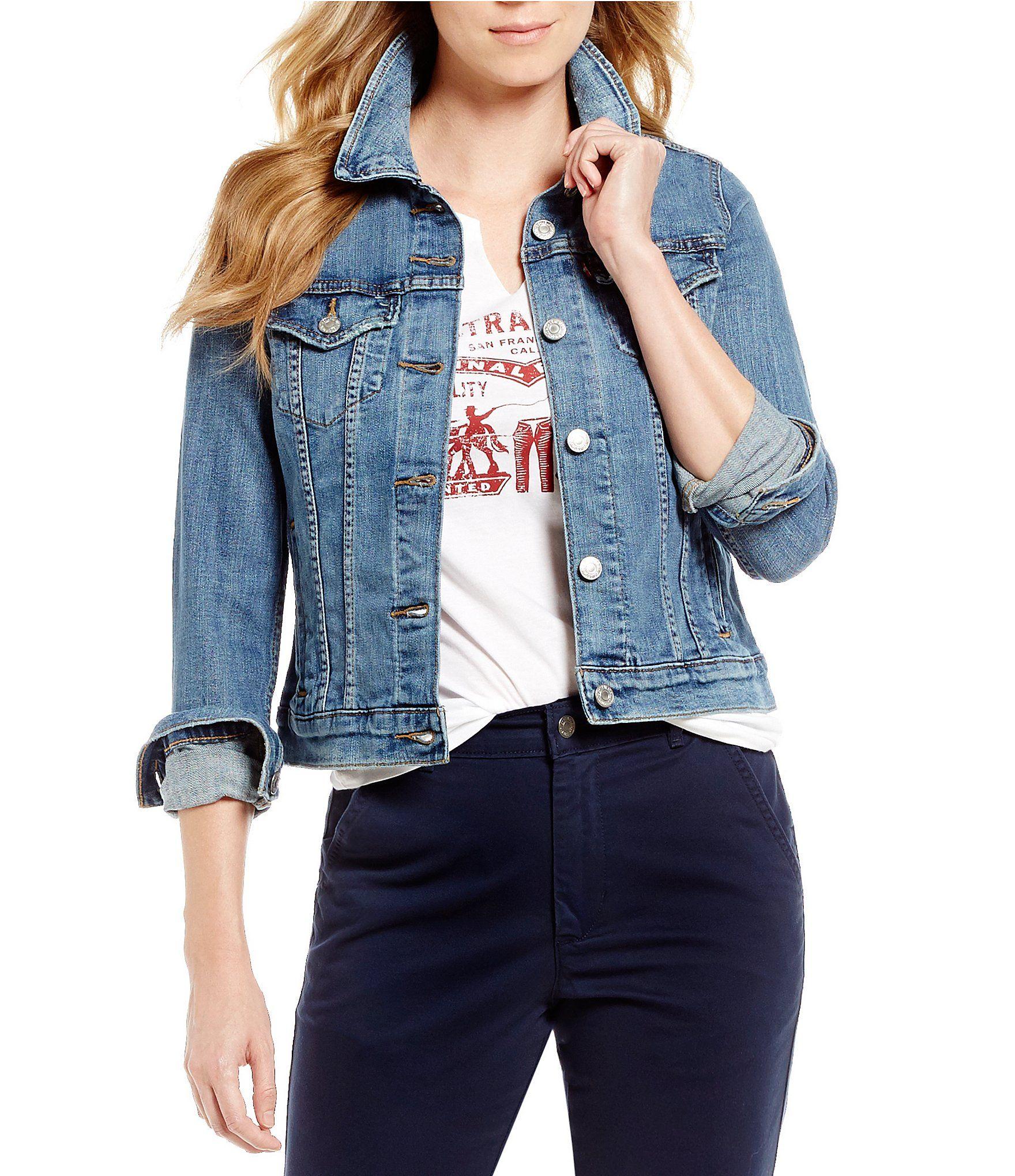 Levi S Original Trucker Jacket Dillard S Denim Jacket Blue Jean Jacket Outfits Womens Fashion Jackets [ 2040 x 1760 Pixel ]