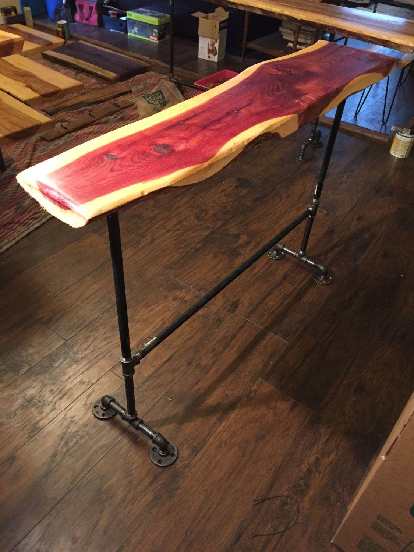 Western red cedar table top western red cedar live edge table top - Red Cedar Bar Top Sofa Table Top Rustic Furniture End Tables Live Edge Slabs Red Cedar