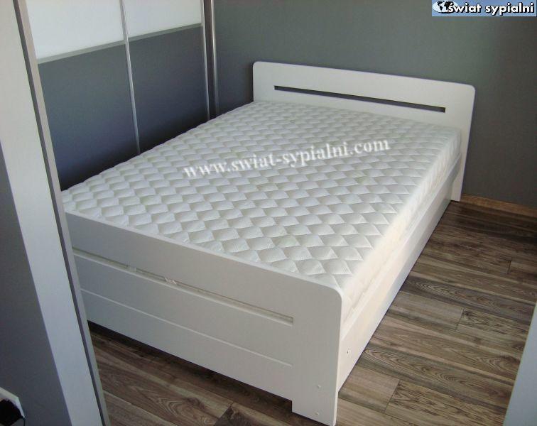 Lozko Drewniane Proste 140x200 Z Pojemnikiem Biale Bed Furniture Decor