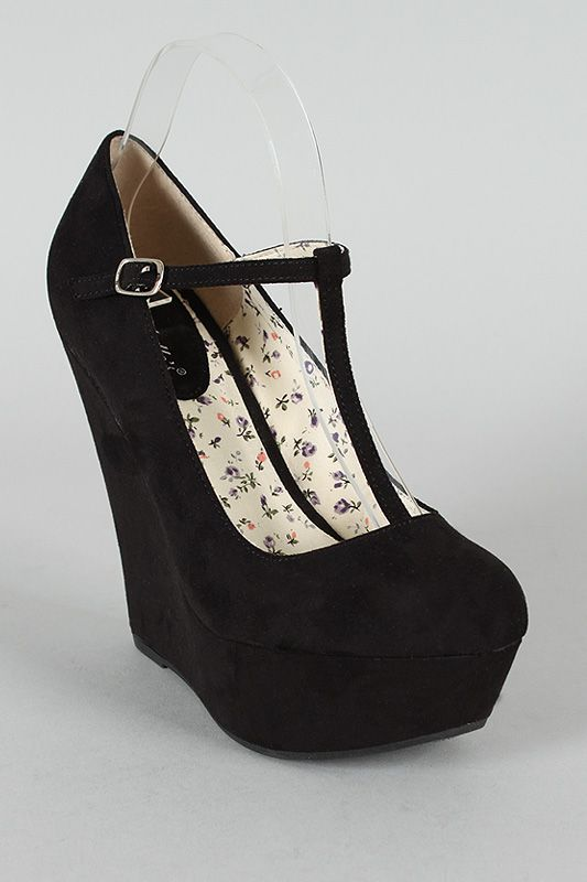 a0054ab6386 Breckelle Cilo-15 Round Toe T-Strap Platform Wedge  27 also in lime geen