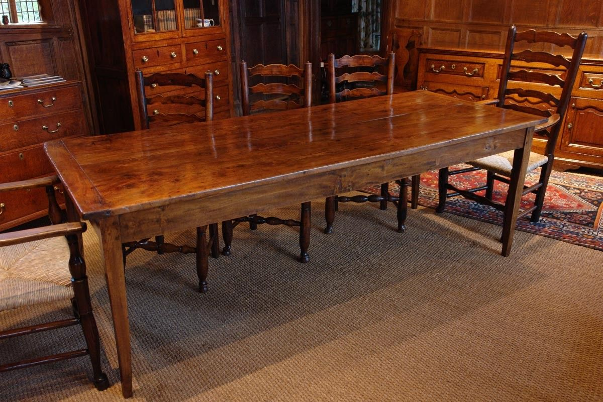 Large Antique Farmhouse Dining Table Elm Adams Antiques Tables