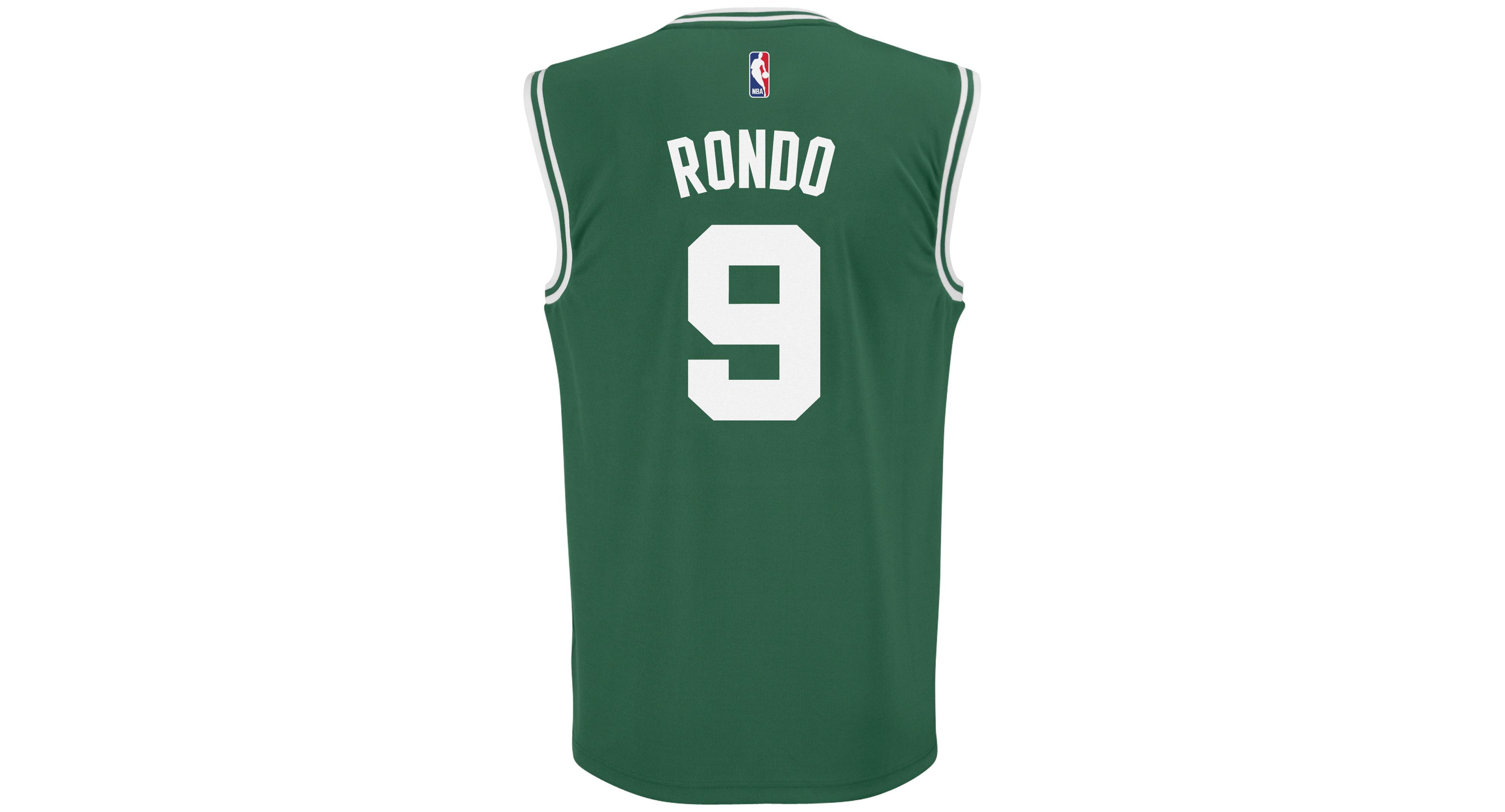 buy popular 757b8 b72b2 adidas Men's Rajon Rondo Boston Celtics Rev 30 Replica ...