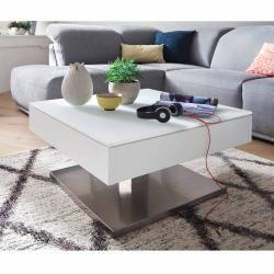 Mca Mariko Couchtisch 75x75 cm Weiß/Silber Mca furniture