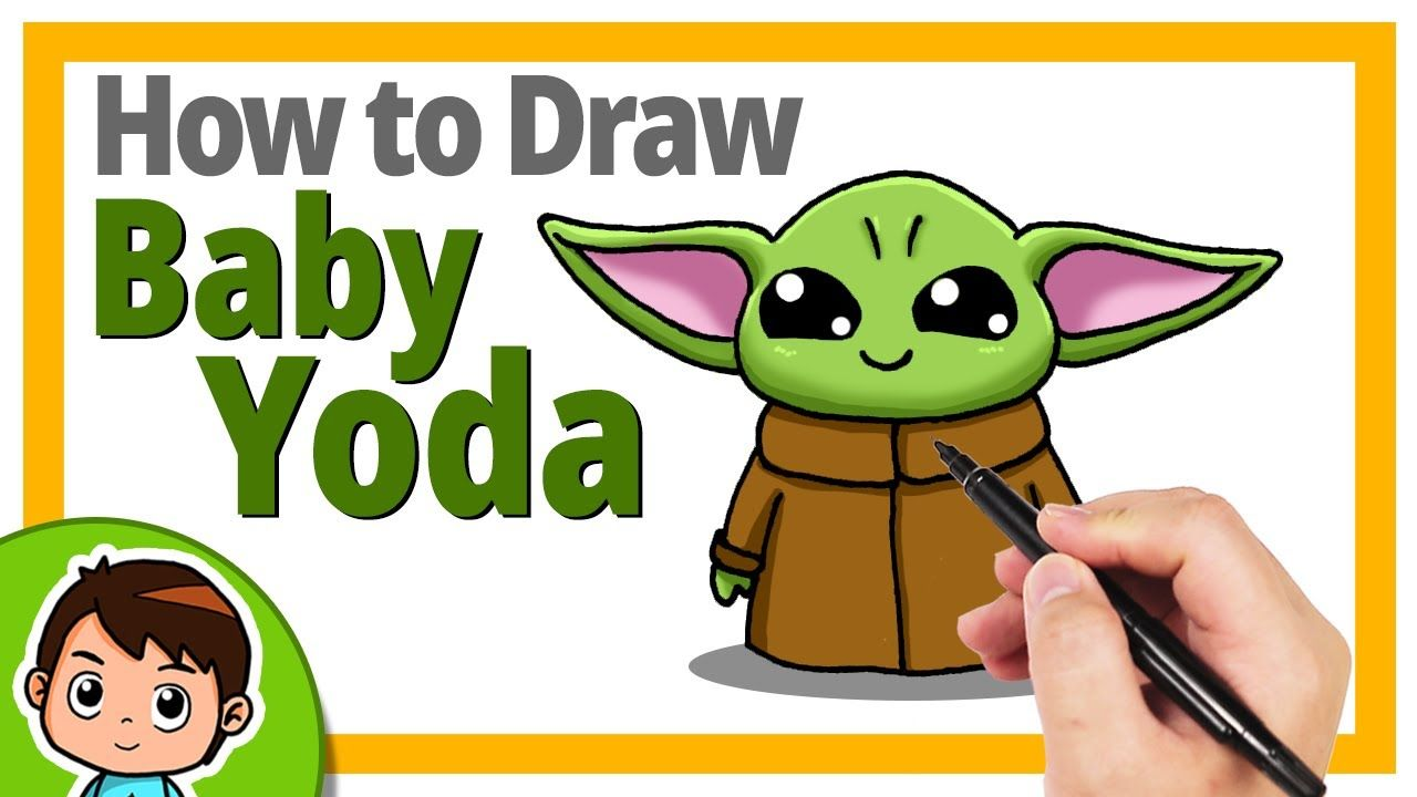 How To Draw Baby Yoda Step By Step Baby Drawing Yoda Drawing Yoda Art