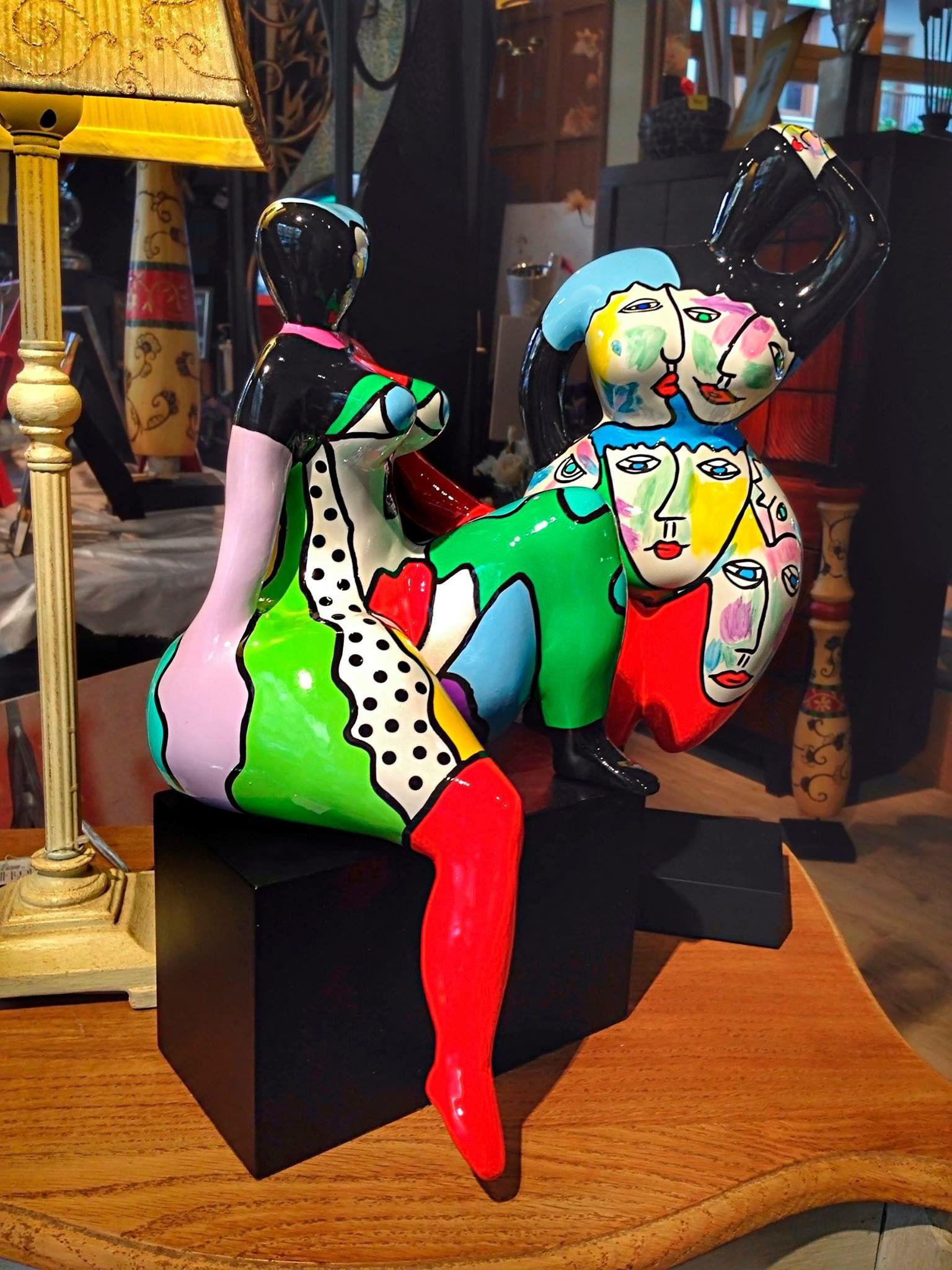 Esculturas modernas y coloridas esculturas escultura - Esculturas decoracion ...