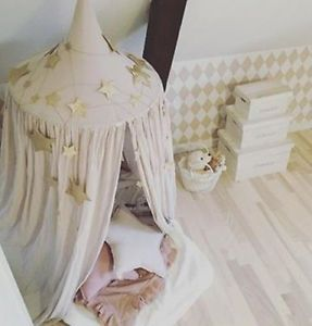 Princess-Bed-Canopy-Baby-Kids-Reading-Play-Tents-Cotton-Mosquito-Bedding-Net