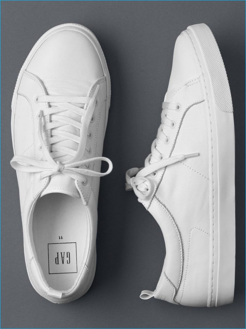 super popular 7e6de 23501 Gap White Leather Sneakers