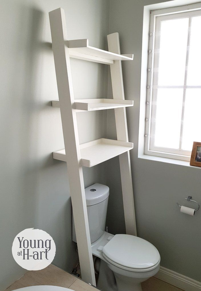 Photo of Toilet Leaning Ladder Shelf