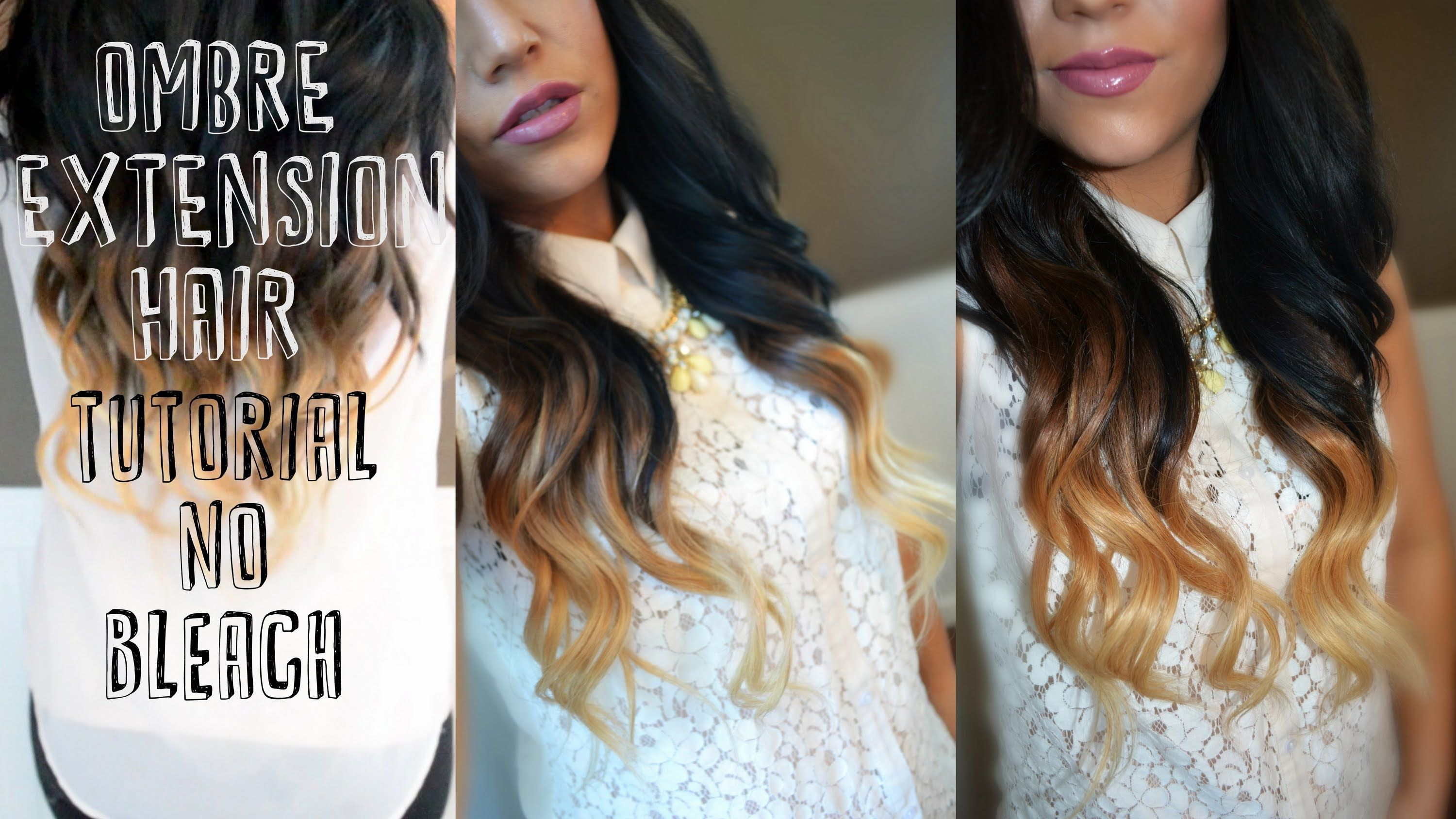Diy Ombre Hair Extensions Without Coloring Your Natural Hair