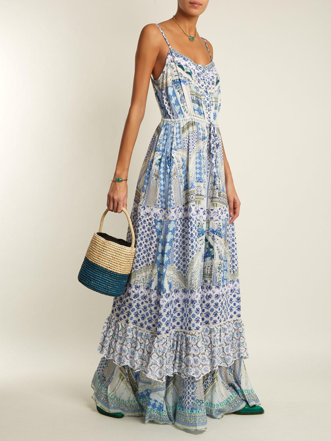 d3cf9d7b01 Salvador Summer tiered maxi dress