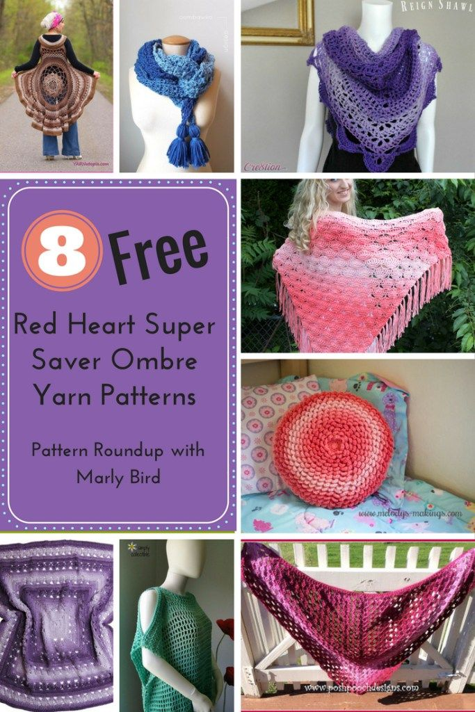 8 Free Crochet Patterns Using The Brand New Red Heart Super Saver