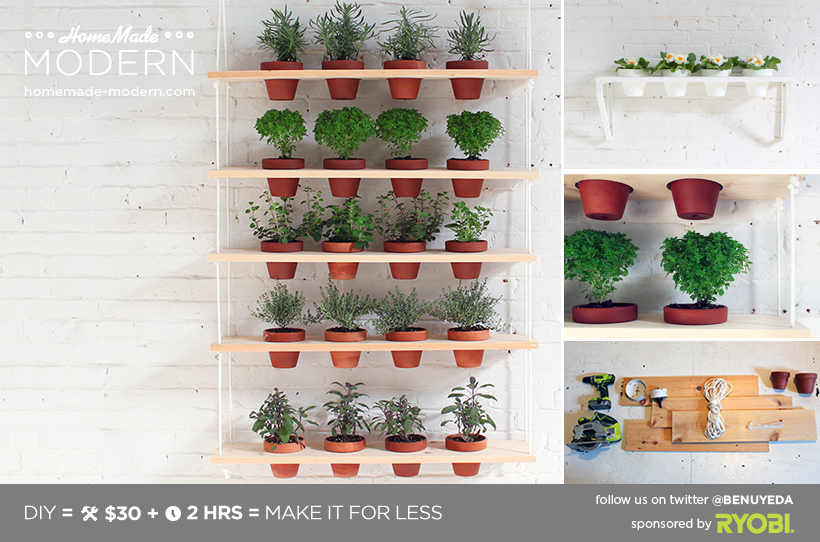 Indoor Hanging Herb Planters Part - 50: HomeMade Modern DIY Hanging Garden Postcard, This Would Be Great For Herbs!