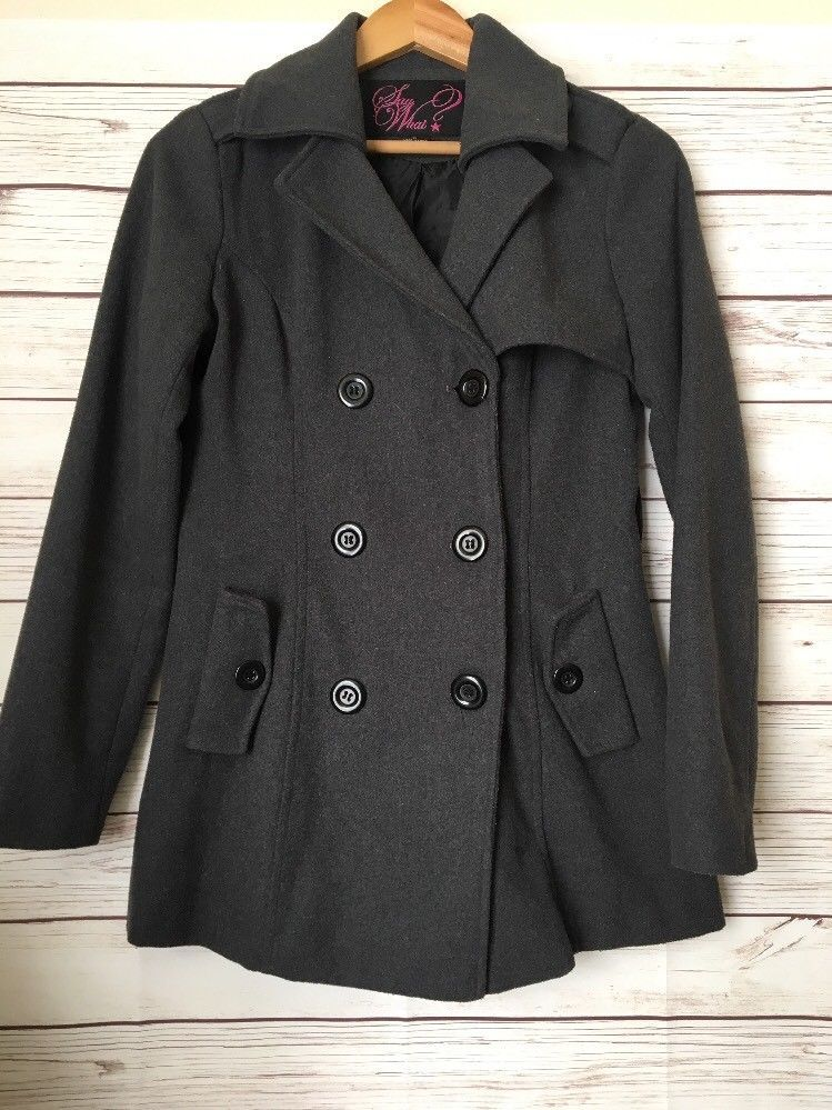 a4dfbc4069 Say What jacket coat Grey Size M double breasted E13  fashion  clothing   shoes  accessories  womensclothing  coatsjacketsvests (ebay link)