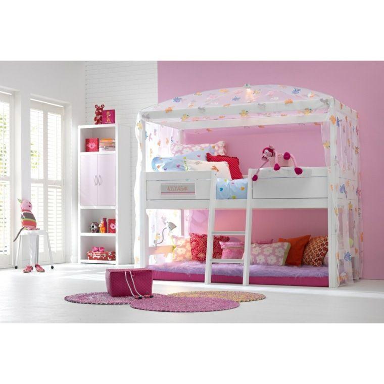 Le lit cabane fille id es en images salons - Lit en hauteur fille ...
