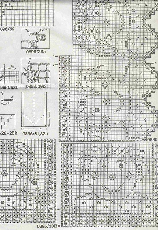 filet crochet motifs | filethäkeln | Pinterest | Gardinen, Gardinen ...