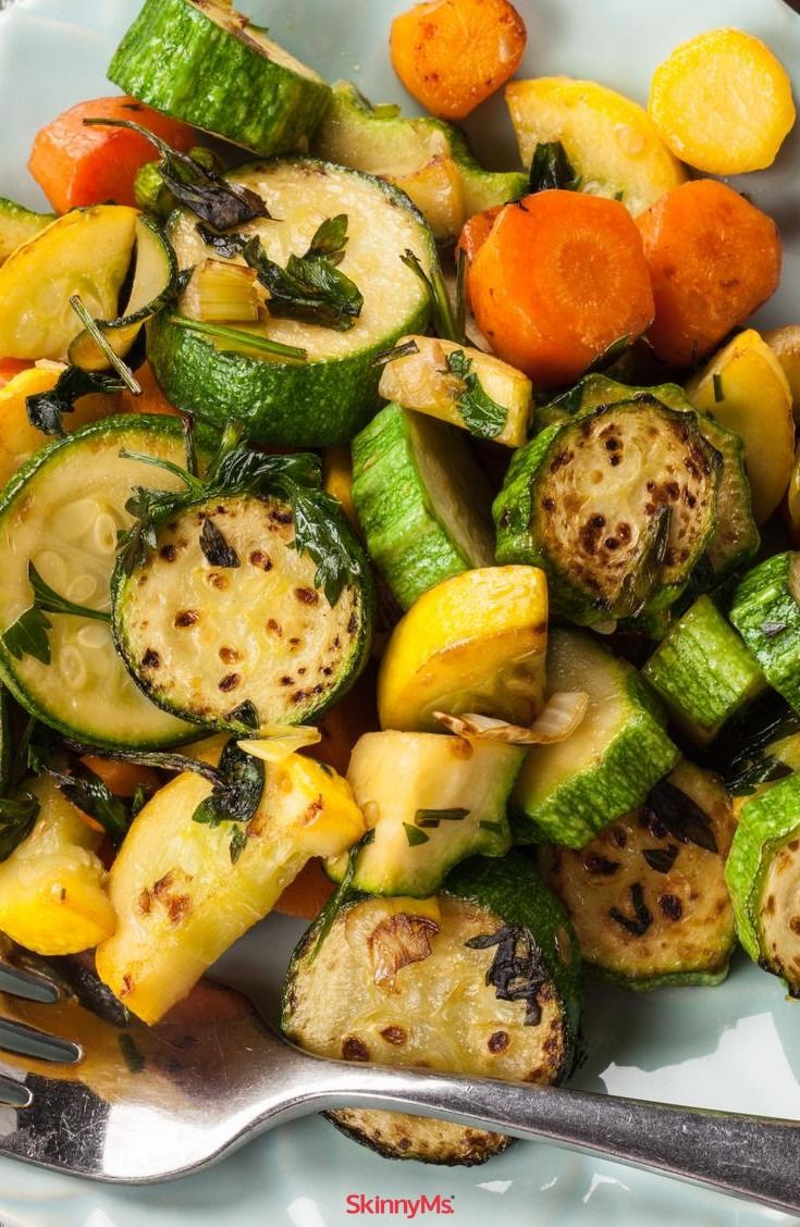 Herb Roasted Zucchini And Carrots Recipe Veggie Dishes