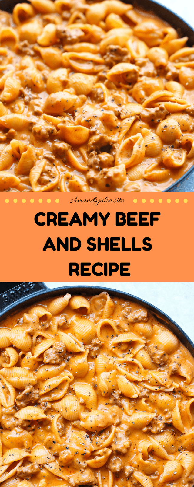 Creamy Beef and Shells Recipe images