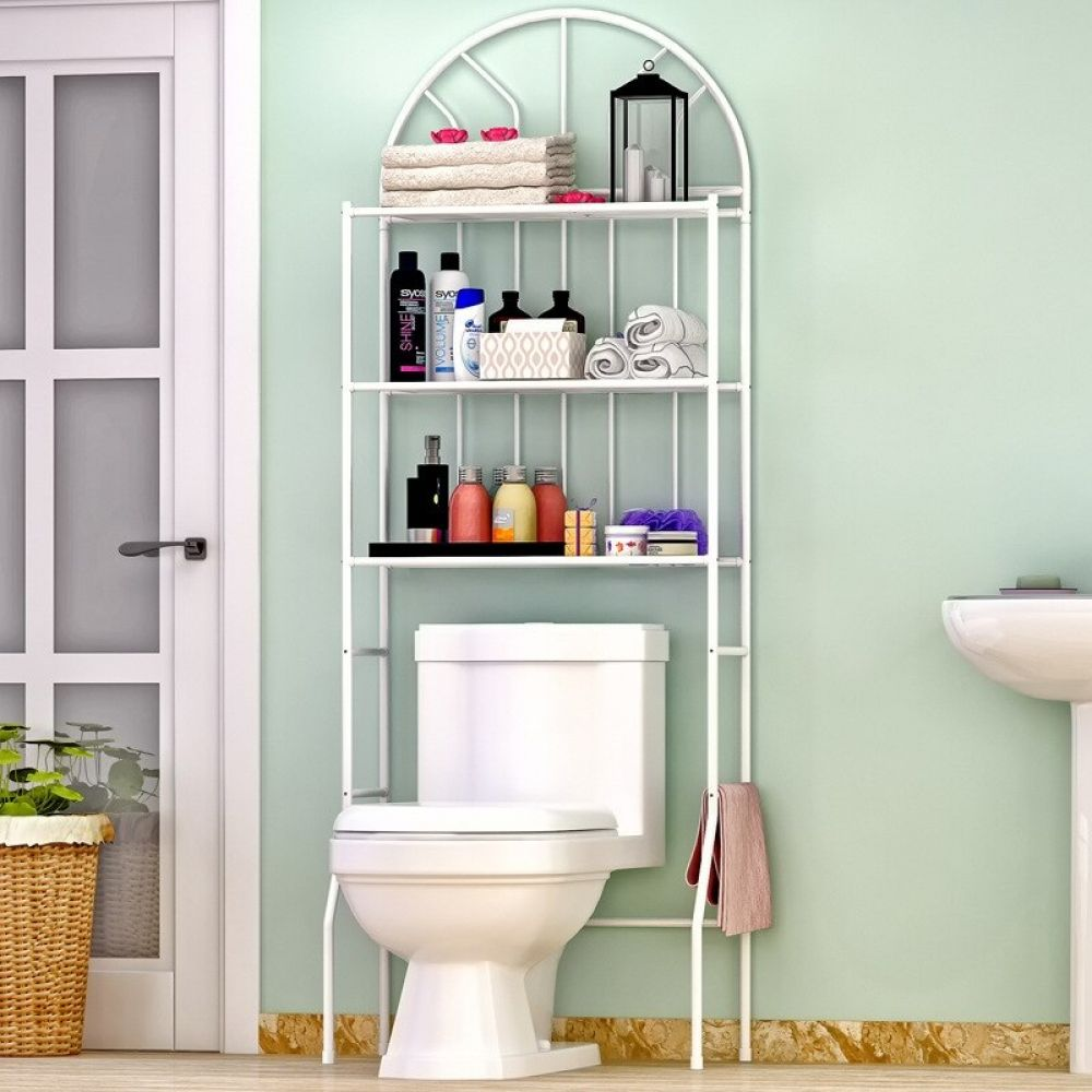 44 Unique Storage Ideas For A Small Bathroom To Make Yours Bigger Small Space Bathroom Bathroom Shelving Unit Small Bathroom