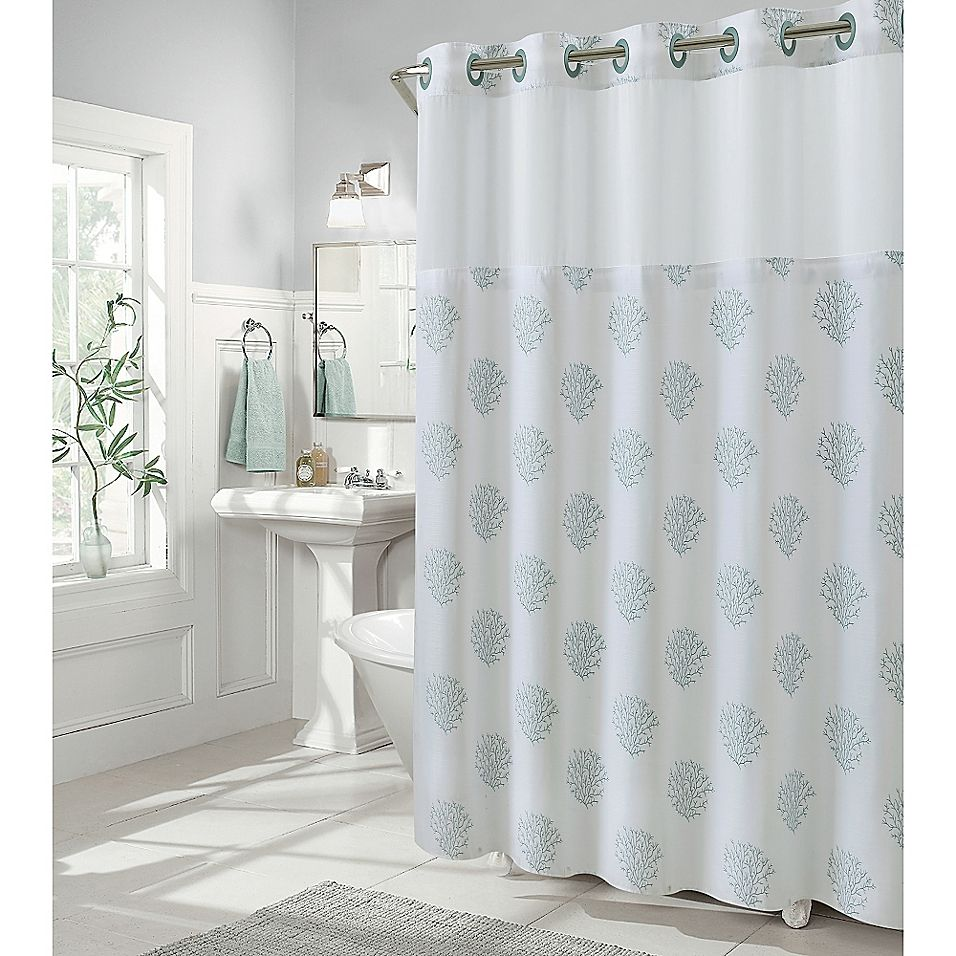 Hookless Coral Reef 71 X 86 Shower Curtain In Grey Mist In 2020