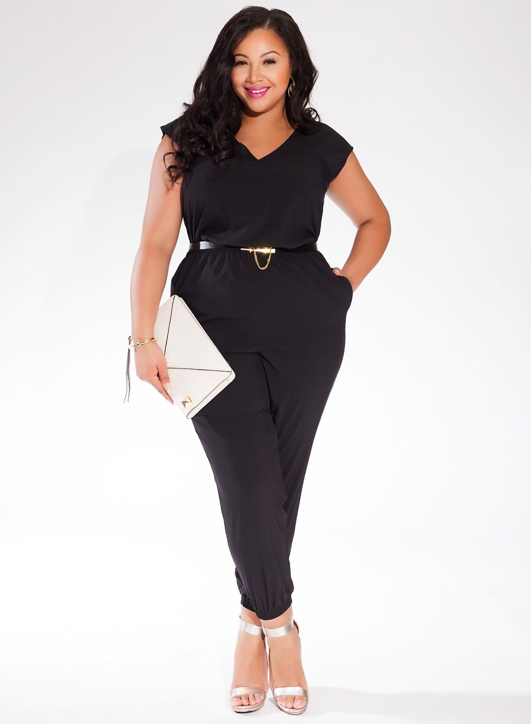 plus size black catalina jumpsuit igigi unique womens. Black Bedroom Furniture Sets. Home Design Ideas