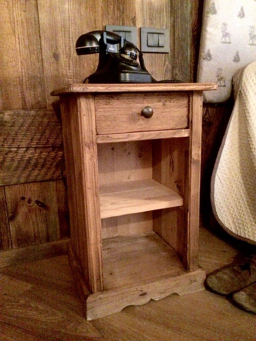 Comodino arte povera con legno pettinato e poco trattato ! | Home ...