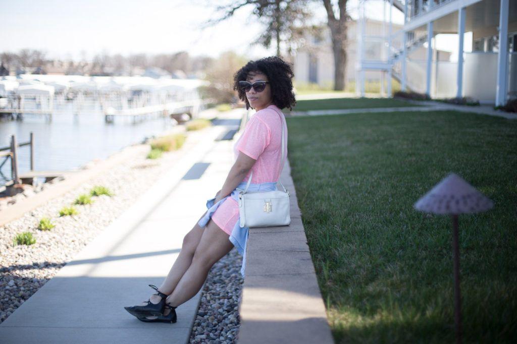 Naturally Far Out | Pastel Pink Shirt Dress | http://naturallyfarout.com