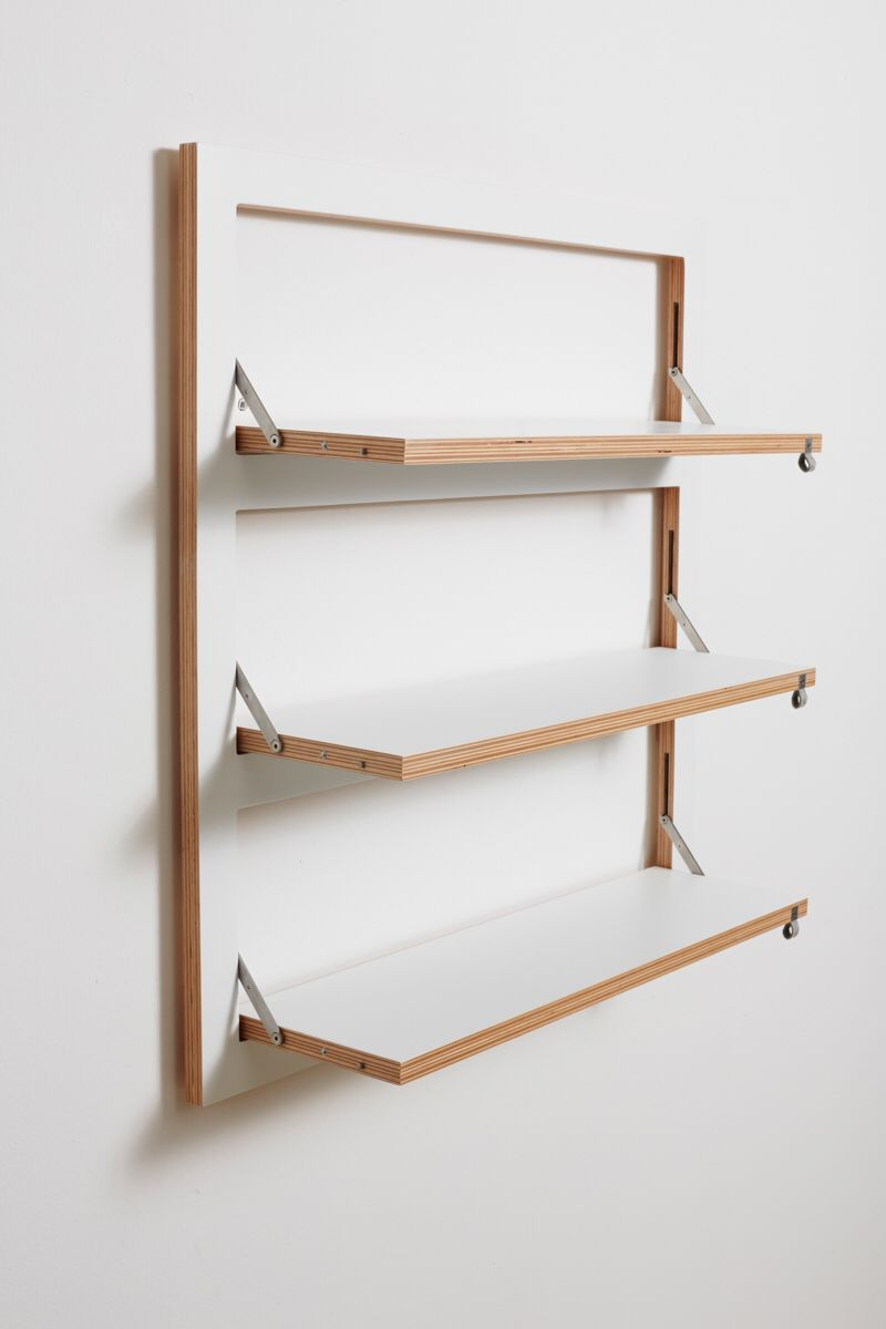 Folding Ply Formica Shelves By Ambivalenz Wall Mounted Shelves