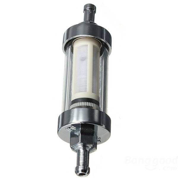 Us 5 99 Chrome Inline Finish Petrol Diesel Fuel Filter 10mm 3 8