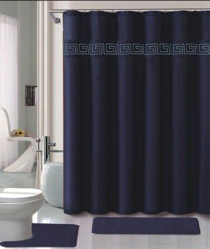 Piece Memory Foam Bath Rug Set Bathroom Rugs With Fabric Shower - Memory foam bath rug set for bathroom decorating ideas