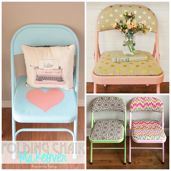 Etonnant Metal Folding Chair Makeovers   Crafty Morning