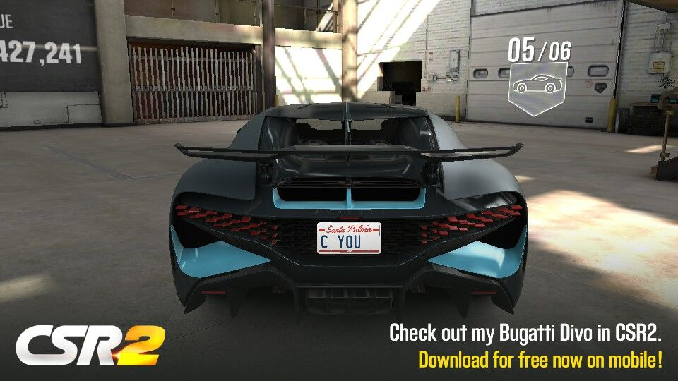 The Bugatti Divo is a CSR Racing 2 Flash Event car for the season