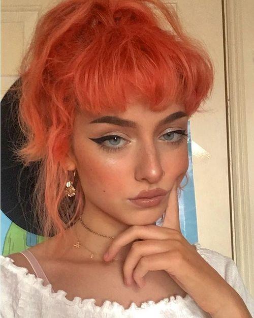 Instagram Eve Frsr Pinterest Carriefiter 90s Fashion Street Wear Street Style Photography Style Hipster Vin Aesthetic Hair Hair Inspiration Orange Hair