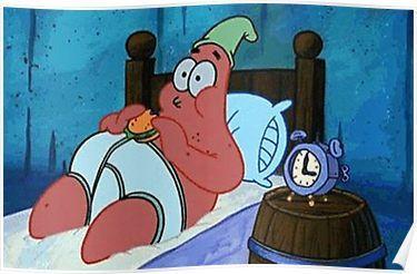 Spongebob Squarepants - Oh Boy 3 Am Poster by frickredbubble
