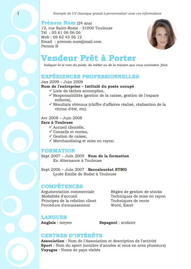 Cv Design Bleu Clair