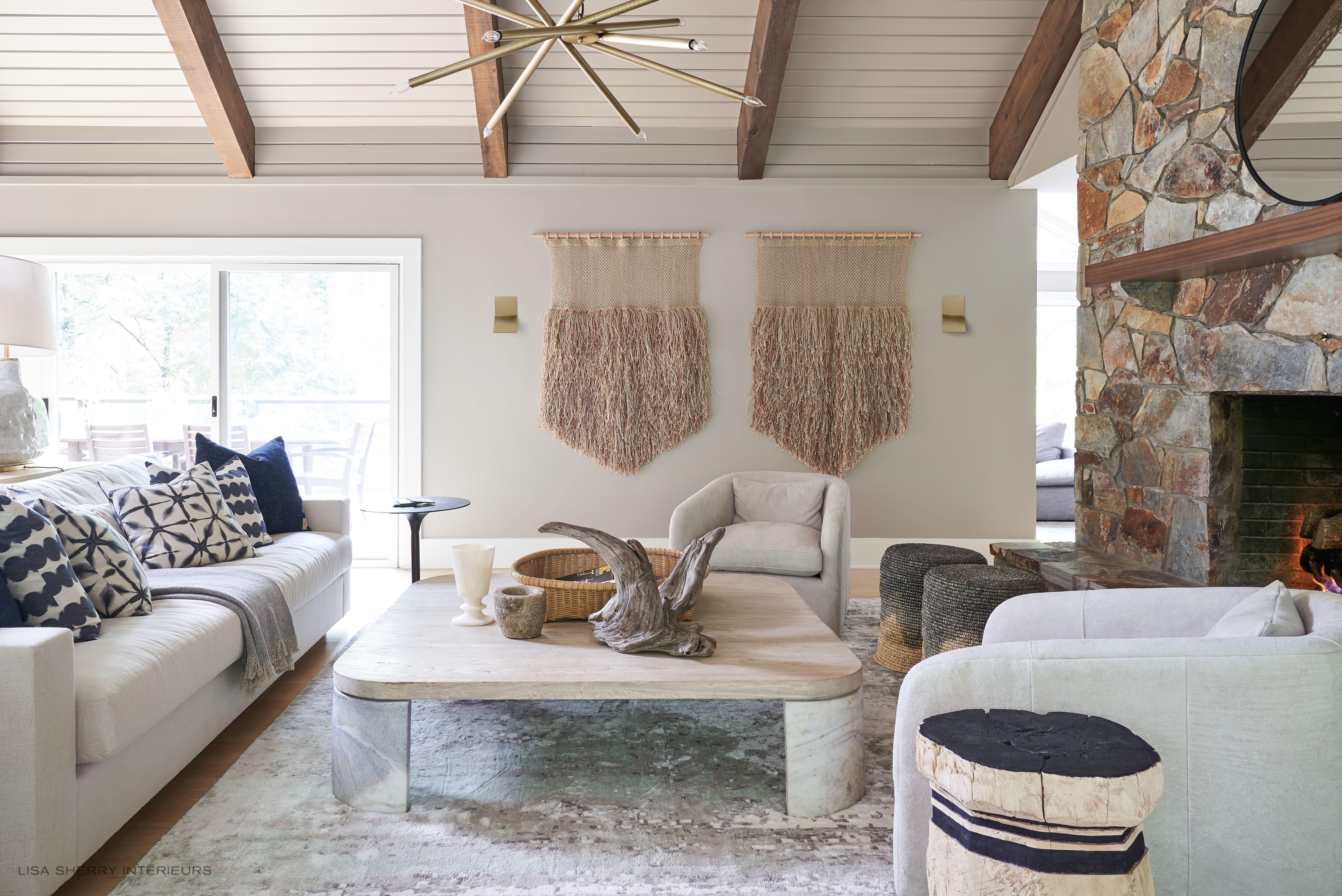 organic and modern living room  home decor interior