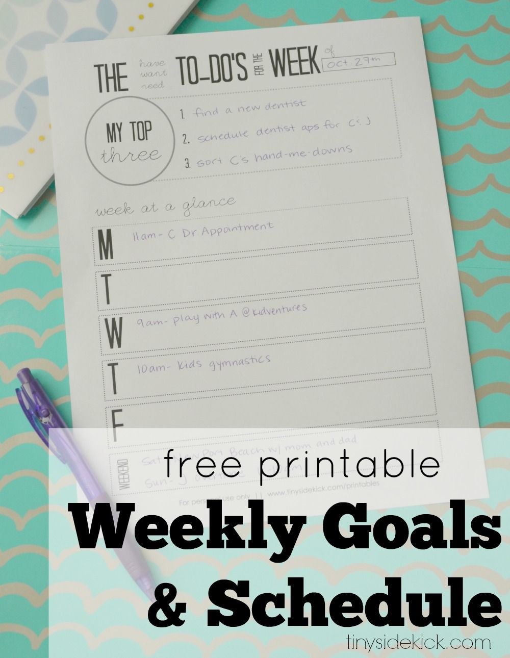 free printable to do list weekly | setting goals, free printable and