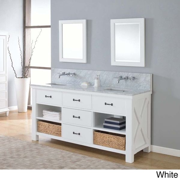 Direct Vanity 70 Inch Xtraordinary Spa Premium Pearl White Double
