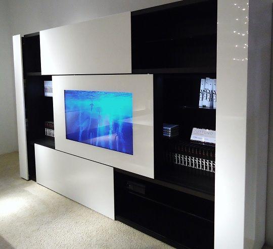 Artesanato Com Cd Passo A Passo ~ tv praticamente escondida na porta de correr do armário jpg (540 u00d7493) Pinterest Sala de estar