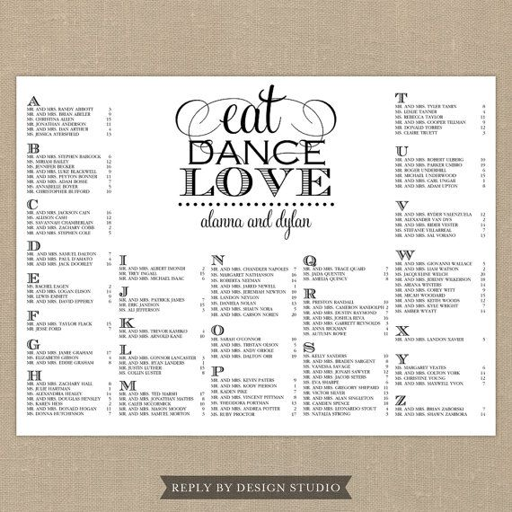 Wedding seating chart eat dance love digital file diy printable pdf calligraphy drink and be married black white modern also best hermiston ideas images dream rh pinterest
