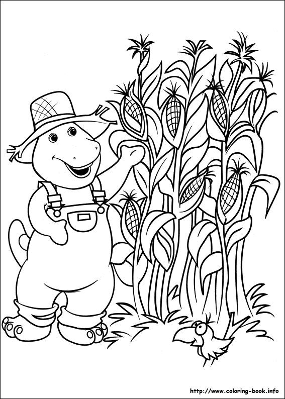 Barney and Friends coloring picture | Coloring Sheets Barney | Pinterest