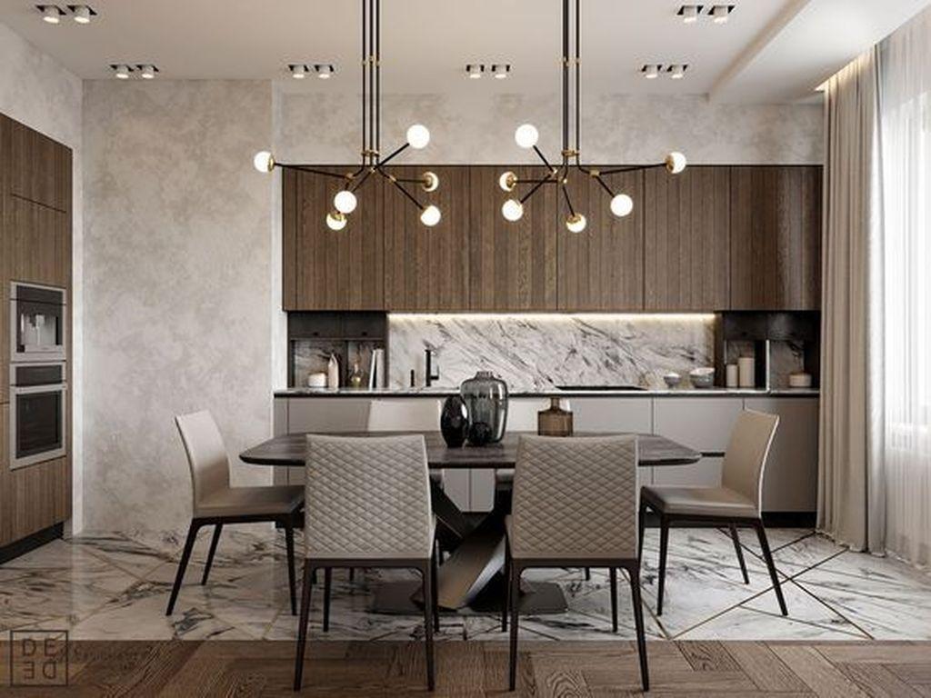 50 Elegant Modern Dining Room Design Ideas Homyhomee Dining Room Design Modern Modern Dining Room Home Decor Kitchen