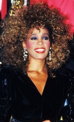 Whitney Houston In The Eighties 80er Jahre Make Up Stil Der