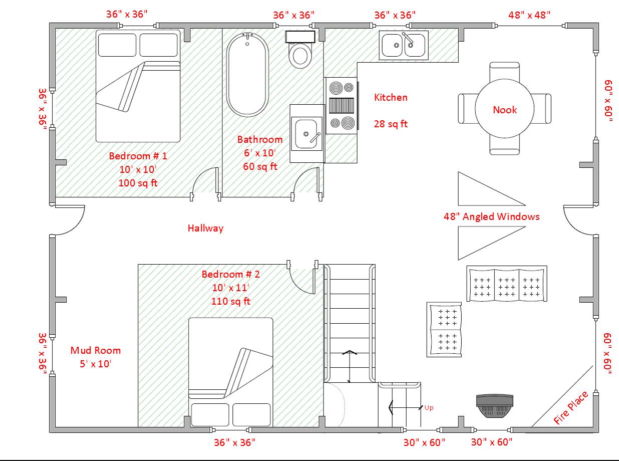 Photo & Sample Floor Plan Gallery – knottypinecabins.ca  Floor