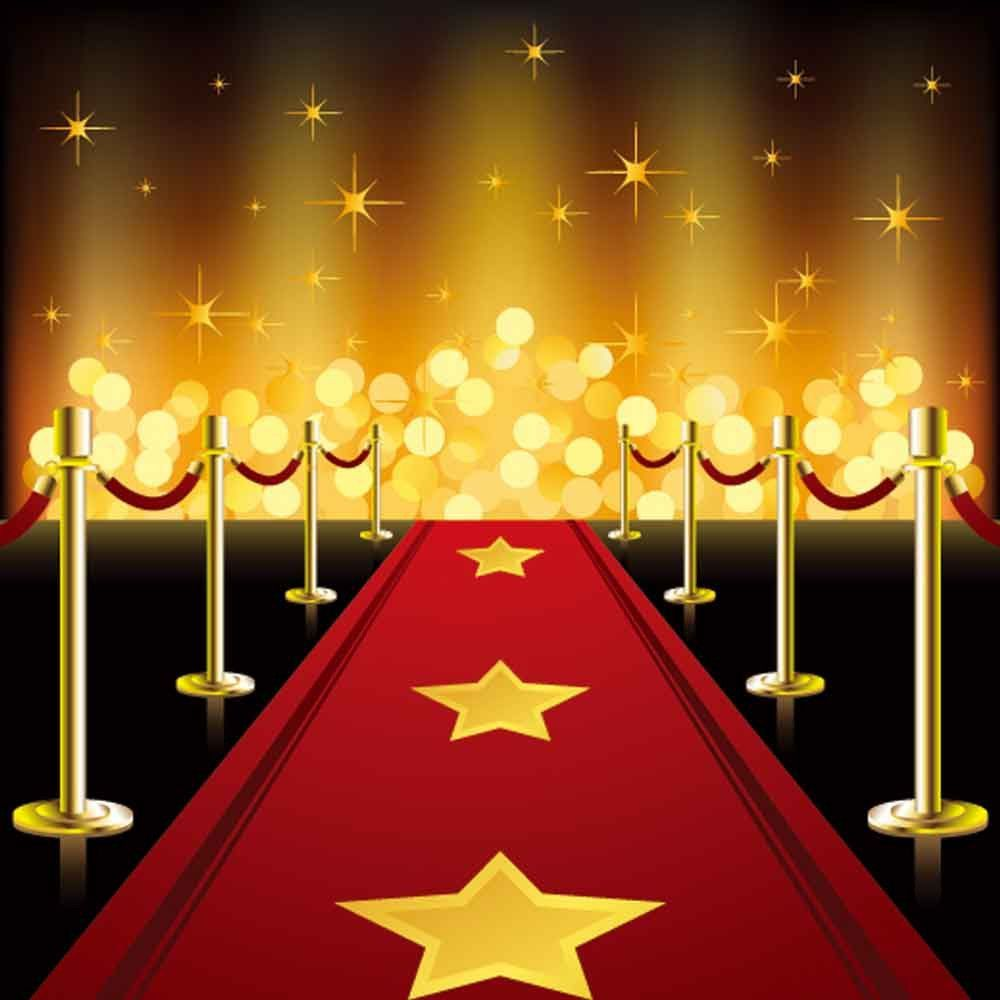 Red Carpet Backdrops Gold Glitter Backdrop Steps Background