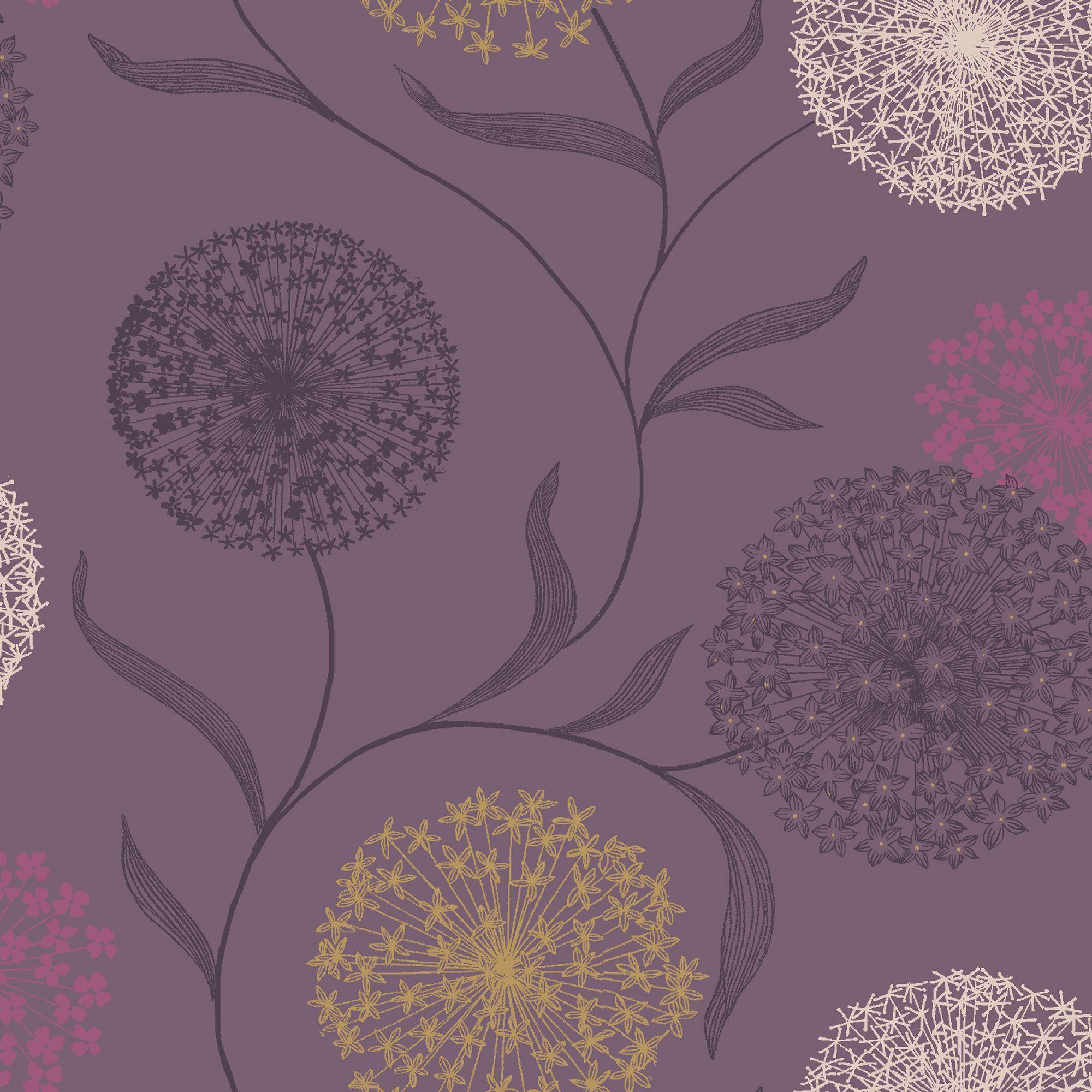 Starburst Grey Purple Wallpaper