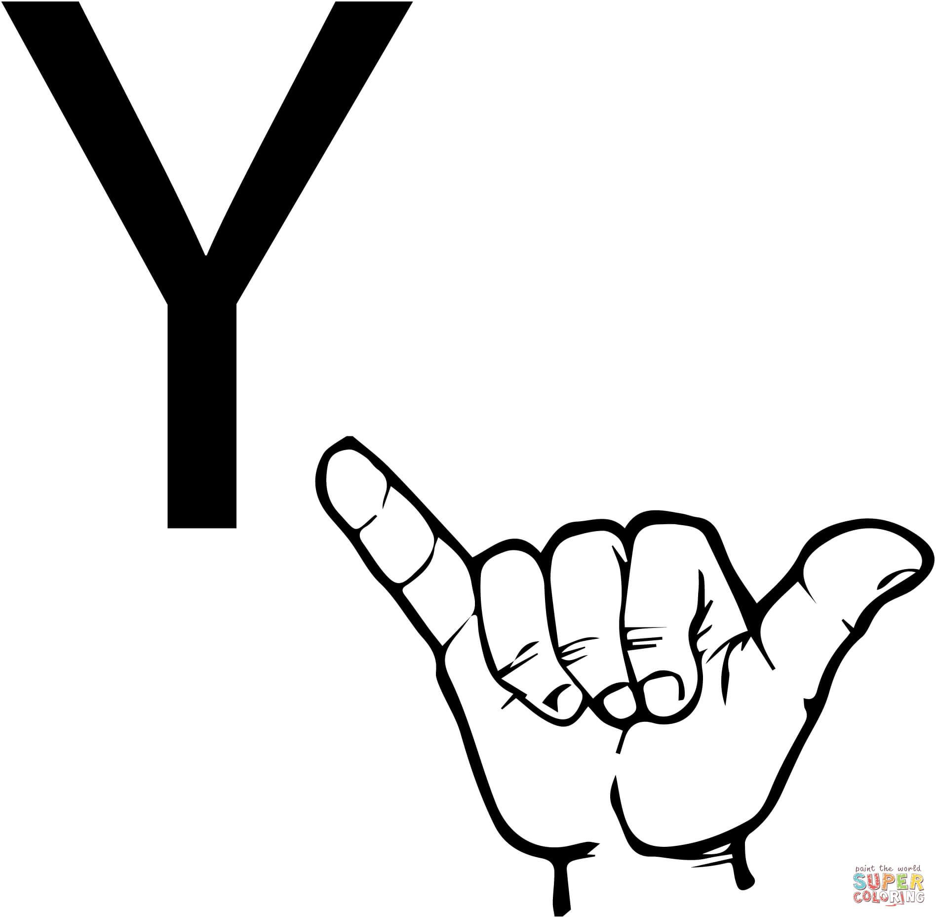 Asl Alphabet American Sign Language Coloring Pages